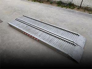 Rampas en aluminio usadas.