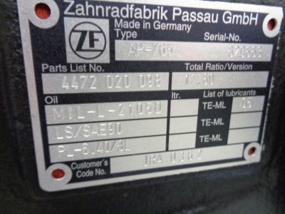 Eje posterior para ZF AP-765 vendida por PRV Ricambi Srl